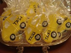 Floral Sugar Cookie | New York City Yellow Taxi Cab Decorated Sugar Cookies - NYC - 1 Dozen