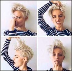Ideas About Female Mohawk Hairstyles Long Hair, – Hairstyles For Girls - Meine Frisuren Short Hair Undercut, Undercut Hairstyles, Cool Hairstyles, Medium Undercut, Mohawk Hairstyles For Women, Woman Hairstyles, Haircut Short, Hairstyle Short, Curly Hair Cuts