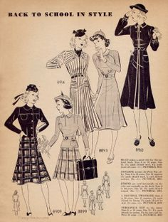 September 1937 Pictorial Fashion Forecast | VintageStitches.com
