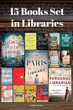 These top books about the power of reading are all set in libraries and bookstores — and they make fantastic book club reads! #books #libraries #librarybooks