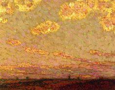 Sunset at Gargeroy, Henri Le Sidaner - circa 1913