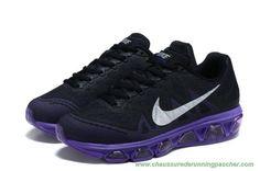 lowest price 9cca7 5688c meilleure chaussure running Femmes Nike Air Max Tailwind 7 7056587-242 Mesh  Noir   Pourpre