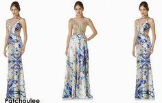 Já pensou em usar vestido de festa estampado?