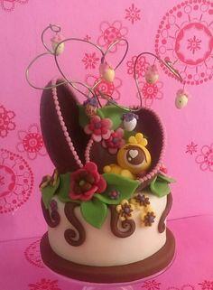 Chocolade paasei, easter, cake, pasen
