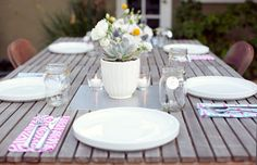 simple backyard dinner party