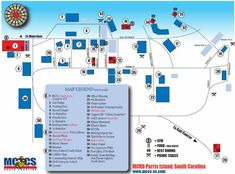 Map of Parris Island Marine Corps Recruit Depot