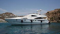M/Y Armenistis II, Fairline Squadron 58, 2004. www.yachtspanic.com
