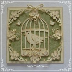 TH Caged Bird dies...how different they look here all in white!