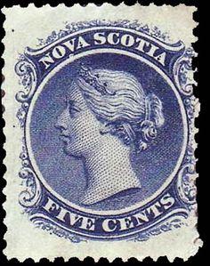 Nova Scotia 1860-1863. Queen Victoria. 5 Cents