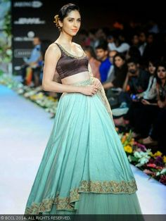 Shyamal & Bhumika Chocolate blouse and mint green skirt http://eattravellaugh.weebly.com/blog