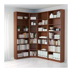 BILLY Bookcase, brown ash veneer brown ash veneer 84 5/8/53 1/8x93 1/4x11