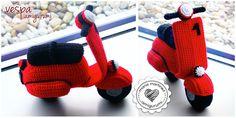 Maria Martinez Amigurumi: Vespa Roja Crochet | Patrón gratis / Free pattern (spanish)