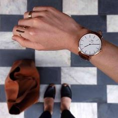 Absolutely love this timeless look! #danielwellington #watch #fashion