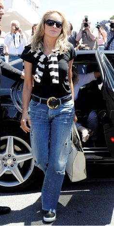 Sharon Stone in Goldsign Jeans