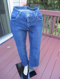Riders Lee Womens 10 M Denim Jeans Straight Leg Dark Blue Classic Fit  #Riders #StraightLeg