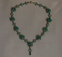 Sidonia's handmade jewelry - Sweet Romance beaded necklace tutorial--Make bracelet instead of necklace