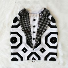 geometric tuxedo dog harness vest $210.00