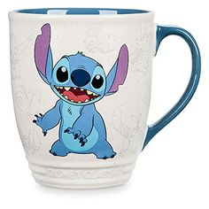 Disney Stitch Mug! Blast off every morning after a rocket-fueled booster shot from this hot beverage mug.