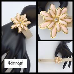 """✨HP✨ JESSICA SIMPSON  PRIMROSE FLOWER BRACELET ✨HOST PICK by @blueskyaction """"DATE NIGHT"""" Party 03/06/15✨ Complete your look with this flirtatious cuff! Faux leather bracelet with gold tone flower detail. Snap closure NWT Jessica Simpson Jewelry Bracelets"""