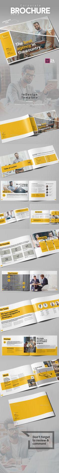 Corporate Brochure Vol.3 Landscape - #Corporate #Brochures Download here: https://graphicriver.net/item/corporate-brochure-vol3-landscape/19543766?ref=alena994