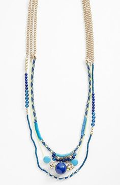 Lydell NYC Mixed Media Multistrand Necklace available at #Nordstrom