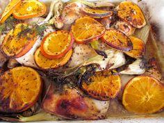 Roasted Orange Chicken with Fennel