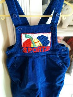 Corduroy Sports Overalls 3T by lishyloo on Etsy, $10.00