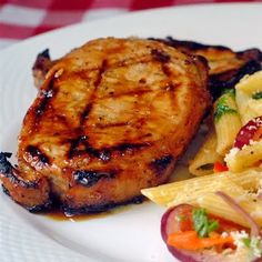 Honey and Orange Glazed Grilled Pork Chops -  Delicious!  I tried this recipe just the other night.
