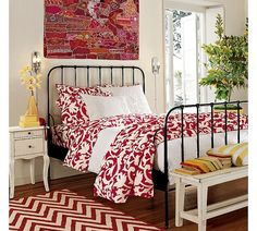 Inspiration for our red bedding
