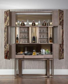 Bespoke Luxury Drinks Cabinet Design | Elicyon Bespoke Furniture, Bar Furniture, Cabinet Furniture, Luxury Furniture, Furniture Design, Drink Bar, Luxury Bar, Luxury Decor, Cabinet Decor