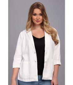 Vince Camuto Plus Plus Size Linen Boyfriend Two Button Jacket #womens #business #casual
