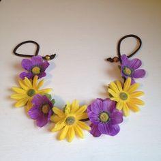Flowered Headband / Hippie Crown by ZealandBoutique on Etsy