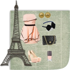 """""""One Night in Paris"""" by hermia264 on Polyvore"""