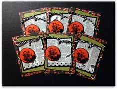 """Halloween Project Life Cards made for the Joy's Life Halloween Blog Hop- """"Halloween Puns"""""""