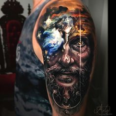 Face morph tattoos can make true custom ink for people wanting something poetic, original and superb and Arlo DiCristina masters this style. 3d Tattoos, Unique Tattoos, Body Art Tattoos, Tattoos For Guys, Small Tattoos, Best Tattoo Designs, Tattoo Sleeve Designs, Sleeve Tattoos, Arlo Tattoo