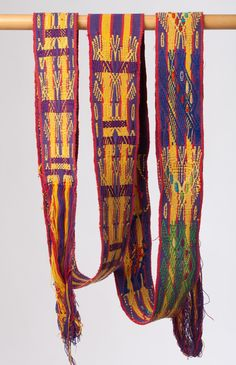Guatemalan handwoven faja / belt by PaulaArteTextil on Etsy