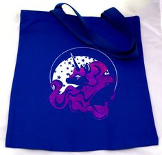 Princess Unicorn Night Tote Bag by TinInk on Etsy