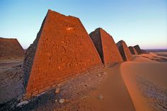 Meroe, an archaeological site in Sudan, is the location of the numerous pyramids of the Kushite Kingdom built in the 3 century BCE.
