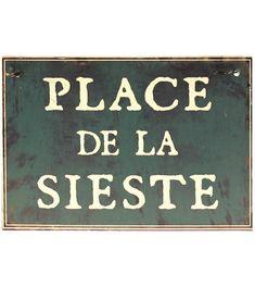 Plaque Place de la sieste