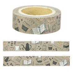 Coffee Masking Tape • Chobit Wit Japanese Washi Tape