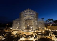 Italian artistEdoardo Tresoldi has used wire torecreate an early Christian church on an archaeological site inSiponto, a port town in southern Italy