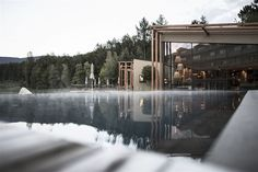 Designed by noa* network of architecture, The Hotel Seehof is located on a high plateau near the village of Natz- Schabs/Naz-Sciaves near Brixen/Bressanone Garden Architecture, Architecture Photo, Outdoor Areas, Outdoor Pool, Pergola, Studios, Fairytale House, Grand Parc, Courtyards
