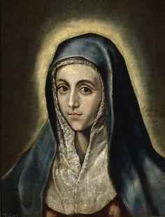 La Virgen María, 1595 - 1600 (El Greco y su taller).