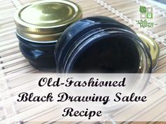 Remedies For Water Retention Old fashioned black drawing salve is an Amish recipe that is a natural treatment for wounds, splinters and other skin problems. Be Natural, Natural Healing, Natural Foods, Natural Beauty, Holistic Healing, Holistic Care, Healing Oils, Wound Healing, Natural Living