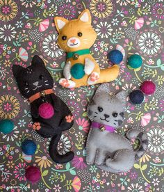 Make your own super-cute felt craft cats with these simple yet stunning patterns by handcrafted lifestyle expert Lia Griffith.