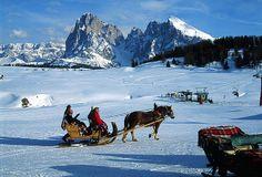 Skiing Alpe di Siusi, Italian Dolomites