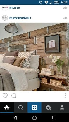 Snygg sänggavel Decoration, Diy And Crafts, Couch, Bedroom, Lund, Inspiration, Furniture, Beds, Design