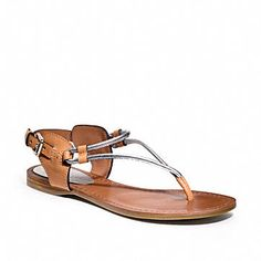 New Womens Designer Shoes, Luxury Boots, Heels, Sneakers from Coach / COCO Flat Sandal