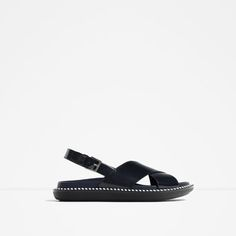 Image 1 of FLAT SANDALS WITH CROSSOVER STRAP from Zara