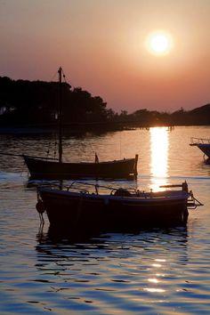 Tramonto su l'isola dei Conigli - Porto Cesareo